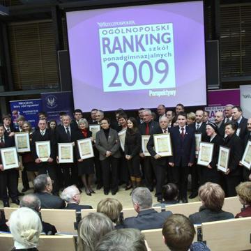 Galeria Uroczyste ogłoszenie wyników Ogólnopolskiego Rankingu Szkół Ponadgimnazjalnych 2009